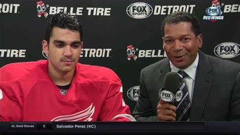 detroit fox sports red wings live postgame 11 10 15 andreas athanasiou