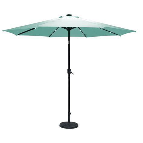 torbay teal umbrella 2 7m with solar lights buy