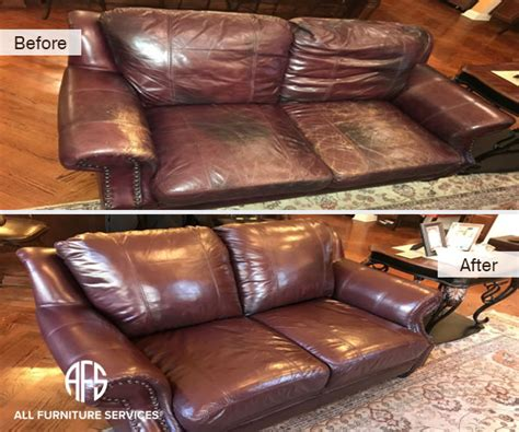 conditioning leather couch gallery before after pictures all furniture services 174