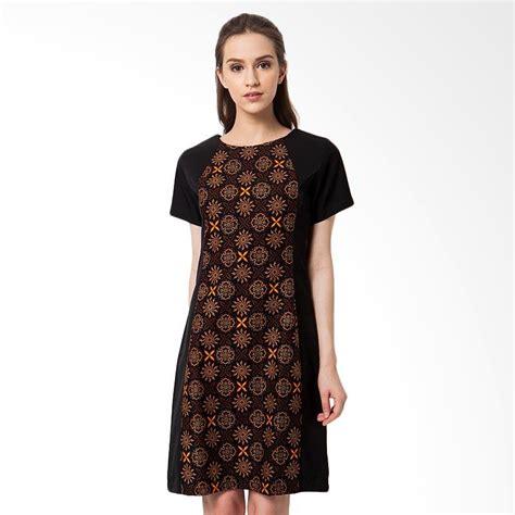 Fashion Wanita Batik Wanita Dress Batik Qiandra Black Ce jual asana truntum dress batik wanita black