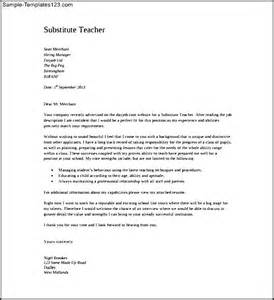 Cover Letter Sle Substitute Substitute Cover Letter Pdf Template Free Sle Templates