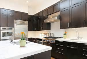 delightful What Color To Paint Kitchen With Dark Cabinets #2: Small-Kitchen-Design-Dark-Cabinets.jpg