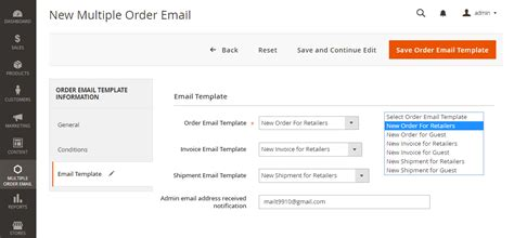 Magento 2 Multiple Order Emails Create Multiple Email Templates Magento 2 Order Email Template