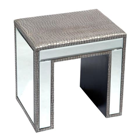 Table With Mirror And Stool silver moc croc mirror dressing table stool