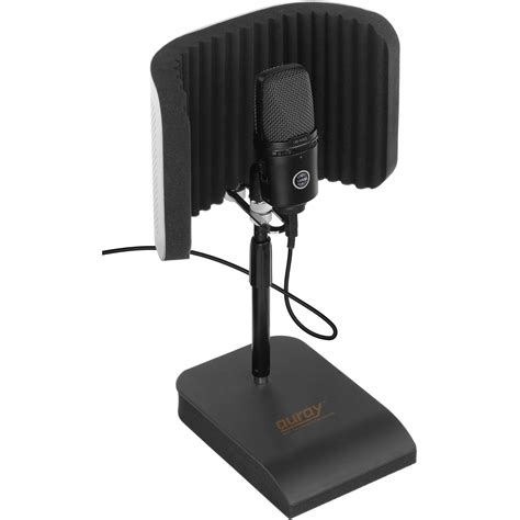 desk top mic stand auray rfdt 128 desktop reflection filter and mic stand