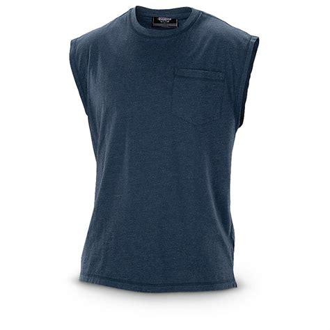 Sleeveless Shirt guide gear s work sleeveless pocket t shirt 621479