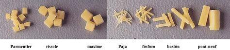 corte en parmentier cocina para nutricionistas l3 tipos de cortes