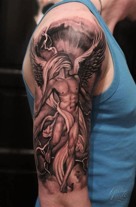 angel tattoo upper street tattoo angel with long hair http tattootodesign com