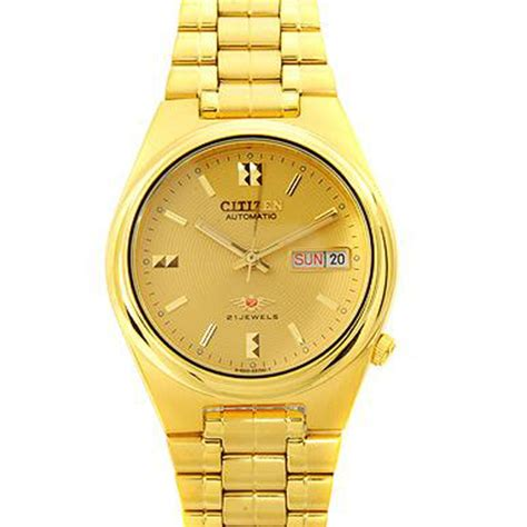 nh6422 citizen automatic nh6422 51p mens gold watches
