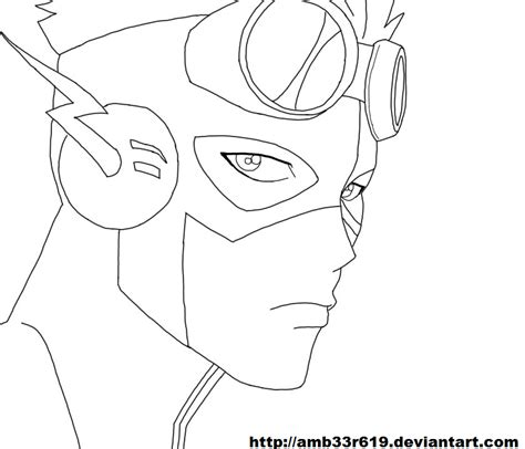coloring pages of kid flash kid flash by amb33r619 on deviantart