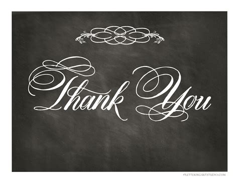 6 best images of free printable chalkboard thank you