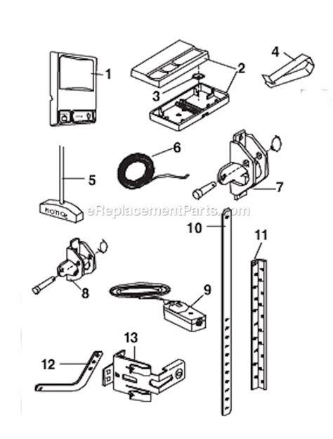 chamberlain  parts list  diagram