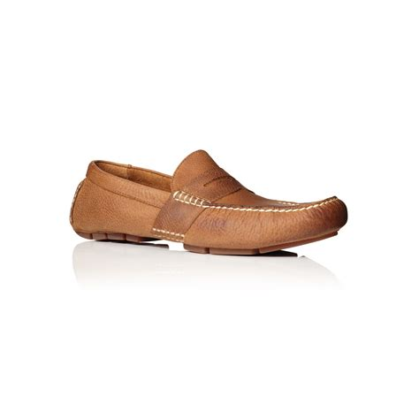 ralph mens loafers polo ralph telly driver loafers in brown for