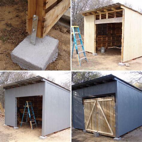 como hacer cobertizos de madera c 243 mo hacer un cobertizo de madera con pal 233 s reutilizados