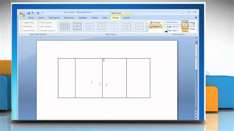 microsoft drawing microsoft 174 word 2007 how to draw a table on windows 174 7