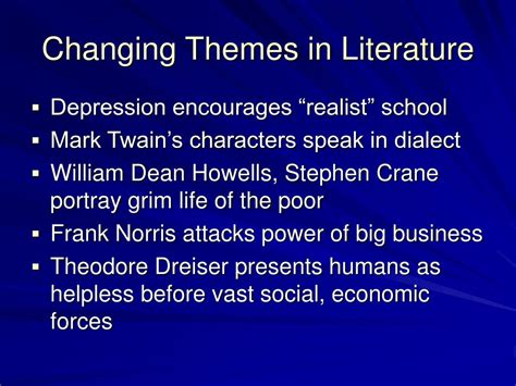 Themes In Literature About Change | ppt political realignments in the 1890s powerpoint