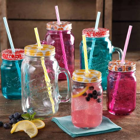 colorful jars the pioneer pkg of 4 colorful lids for 16 ounce
