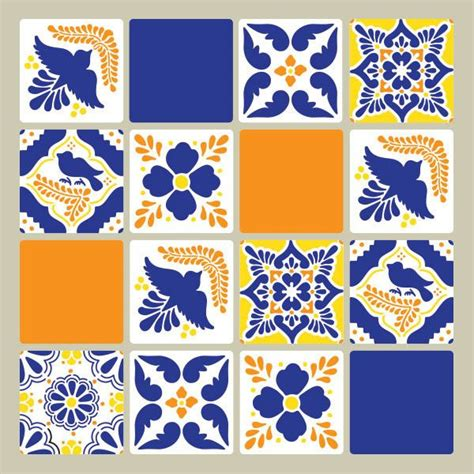 talavera tiles wall furniture stencils