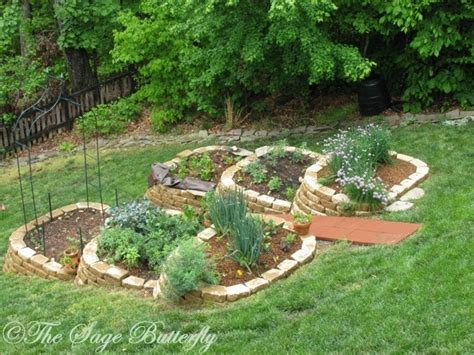 Vegetable Garden On A Slope The Butterfly How We Built Our Tiered Raised Bed