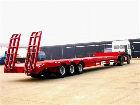 low bed trailer china 60t low bed semi trailer wl9400td photos