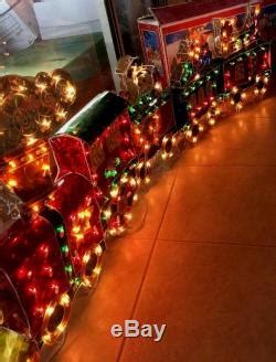 christmas outdoor halogrphic train decoration 6 holographic animated lighted large w chasing lights 6 ft