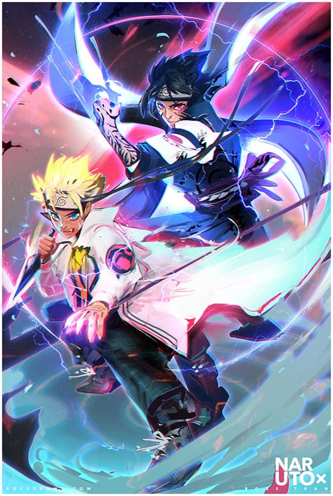 anime art fighting to protect naruto and sasuke daily anime art
