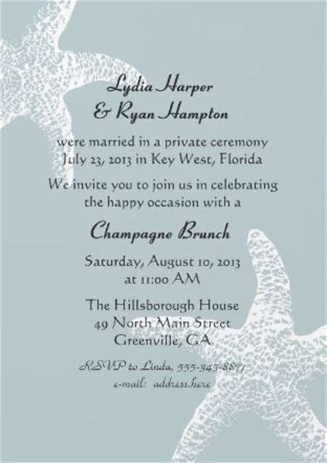 reception invitation wording after a private wedding reception invitation wording after a private wedding