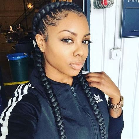 hairstyle with 2 shoulder braids two braids hairstyles african american hairstyling