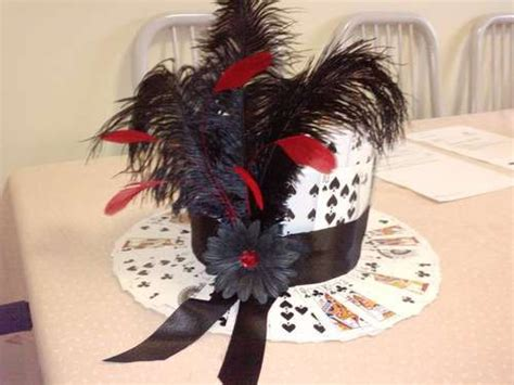 making themed hats diy playing card hat for a casino themed centrepiece diy