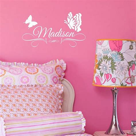 personalized name stickers for walls personalized custom name wall decal decor