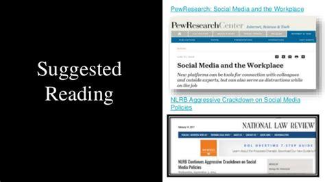nlrb social media policy template social media prevention