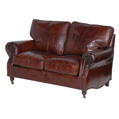 Steptoe Vintage Leather Sofa 2 Seater 2 Seater Sofas Leather