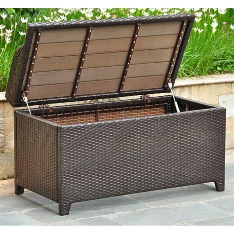 outdoor trunk bench barcelona outdoor storage trunk bench chocolate wicker dcg stores