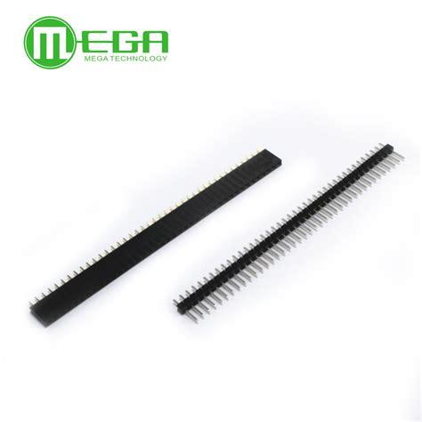 Pin Header 1x40 2 54mm 1 lot 20pcs 1x40 pin 2 54mm single row 20pcs 1x40 pin header connector