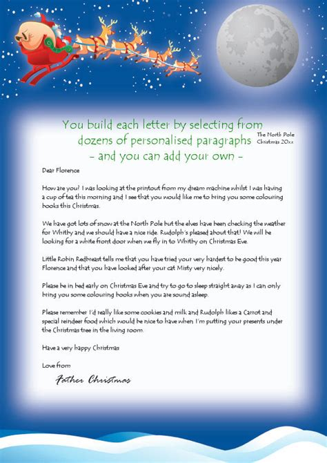 Personalised Letters From Santa With Free Magical Reindeer Dust Create Your Own Fully Free Santa Reply Letter Template