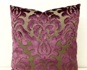 Velvet Pillows Plum Velvet Pillow Cover Velvet Pillow Velvet By Artdecopillow