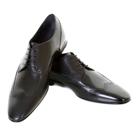 hugo shoes hugo shoes black leather brogue frano 50244405