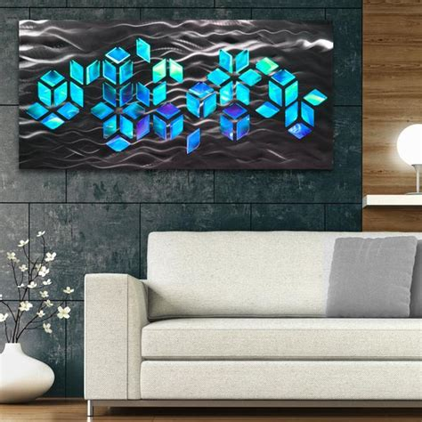 impulse large  abstract geometric design metal