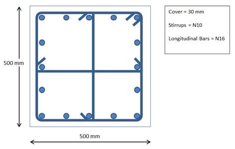 section of column column design verification as3600 09 ram concrete