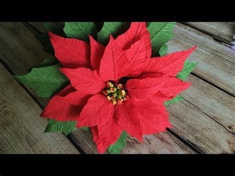 paper poinsettia flower tutorial abc tv how to make poinsettia paper flower from crepe