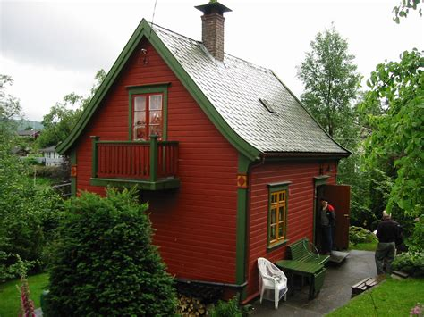 tiny house cottage small summer cabin in norway