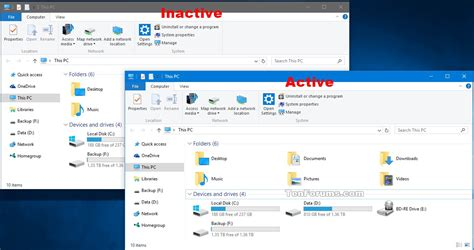 Inactive Title Bar Color   Change in Windows 10   Windows