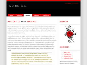 ruby template ruby free website template free css templates free css