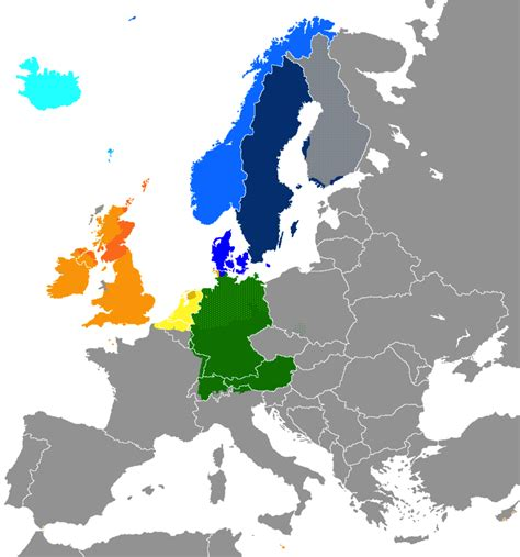 map of europe in german language west germanic languages wikiwand