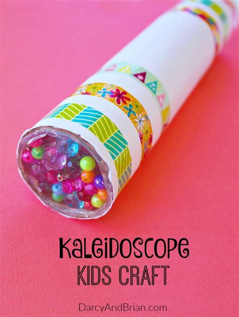 kid crafts diy kaleidoscope craft tutorial pictures