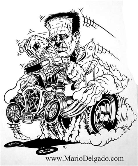 free coloring pages of rat rod cars