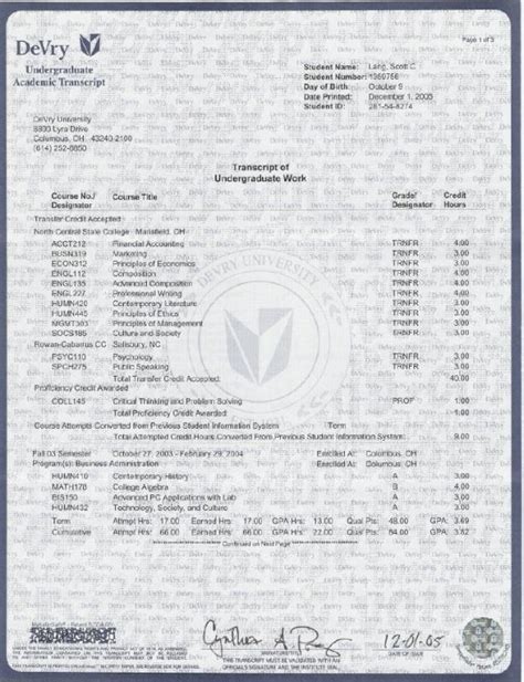 free college transcript template college transcript template shatterlion info