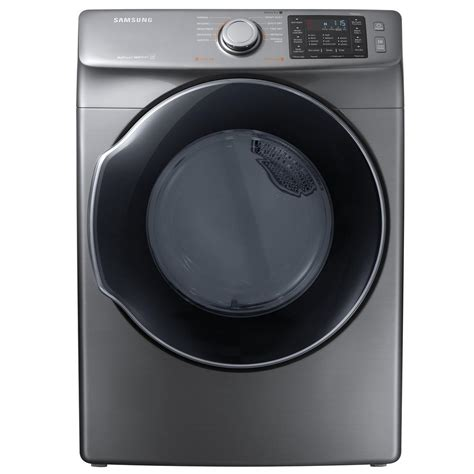 samsung dryer samsung 7 5 cu ft electric dryer with steam in platinum energy dve45m5500p the home depot