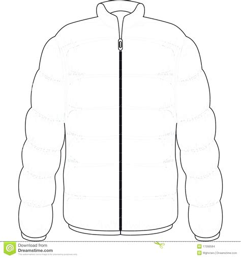coat template winter coat template