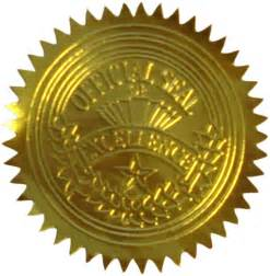 official seal of excellence certificate seals 20014
